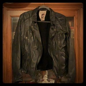 Free People leather jacket size 12